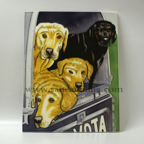 动物三彩壁画