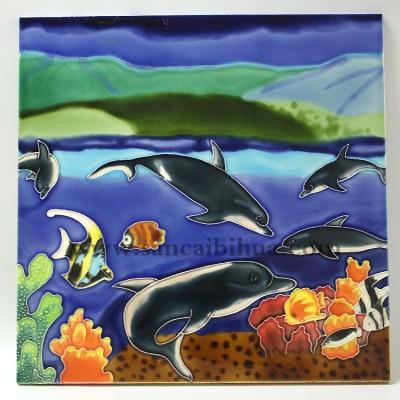海洋生物瓷板画
