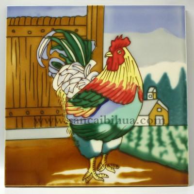 动物艺术画装饰瓷板画
