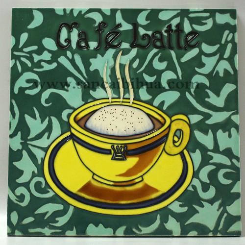 欧式咖啡杯壁画