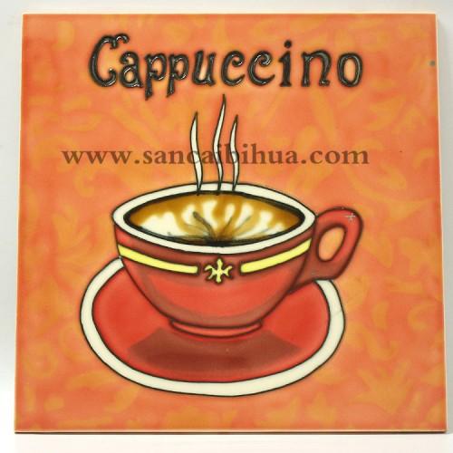 咖啡瓷板画
