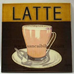 咖啡杯三彩壁画