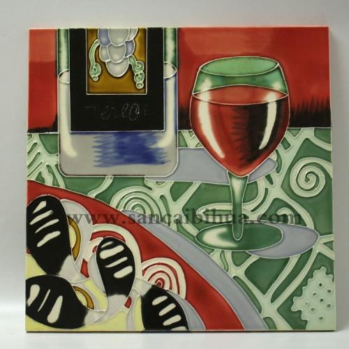 欧美三彩瓷板画