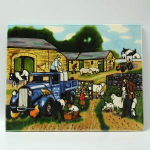 欧美农场瓷板画