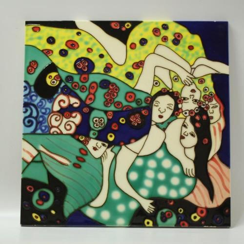 欧式三彩壁画