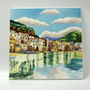 三彩瓷板画风景系列