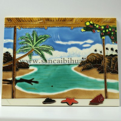 山水风景瓷板画