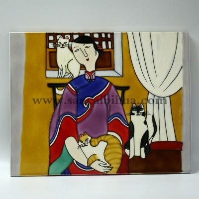 人物瓷板画