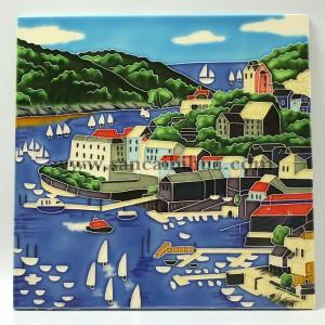 西洋风景瓷板画