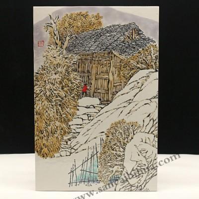 上海美术工作室定制的乡村图瓷板画