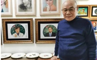 硬核爷爷宅家2个月创作钟南山屠呦呦瓷板画