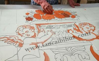 三彩瓷板画的制作流程!
