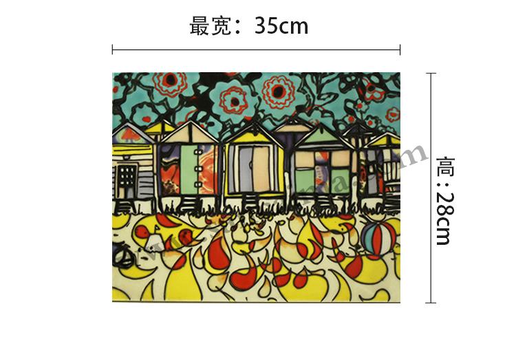 三彩瓷板画