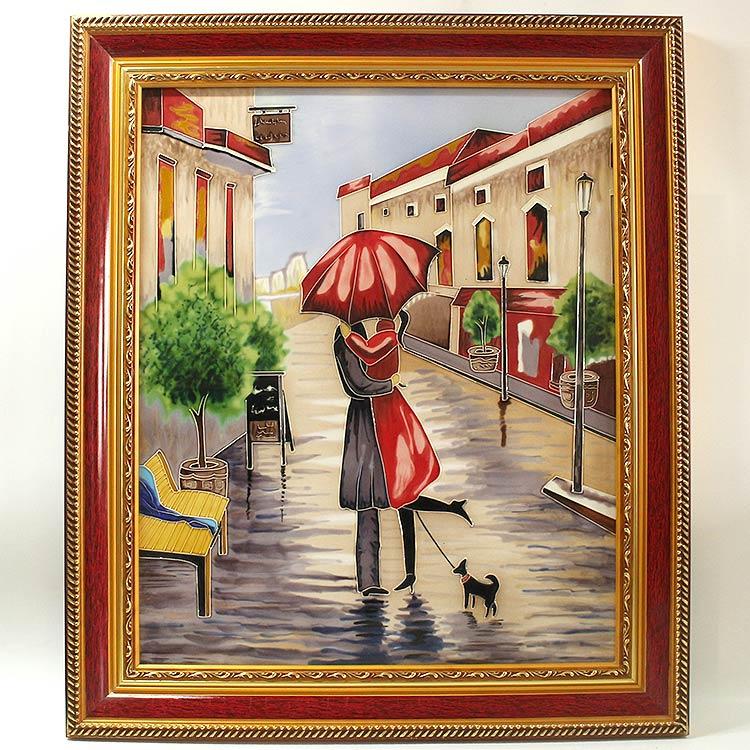 分享几幅欧美人物瓷板画!