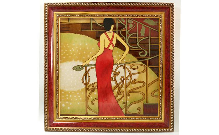 外国客户批量定制欧美瓷板画
