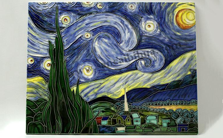 画家梵高的作品高仿瓷板画
